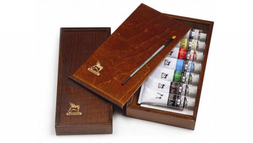 Sada olejových barev Renesans 7x60ml v dřevěné kazetě