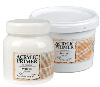Akrylový šeps Sonnet bílý – různé velikosti