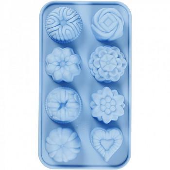 Silikonová forma 8 tvarů - na mýdlo,svíčky i sádru