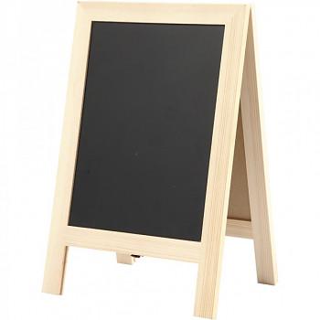 Oboustranná černá tabulka stojan 30x19cm