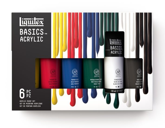 Sada akrylových barev Basics 5x118ml