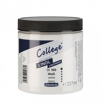 Linorytová barva College 237ml – bílá