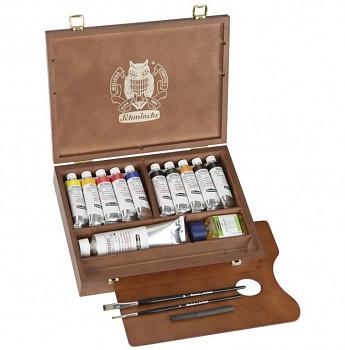 Luxusní sada olejových barev Mussini 10x35ml v kufříku