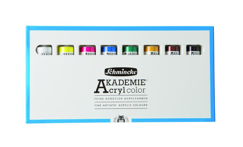 Sada akrylových barev Akademie 8x20ml