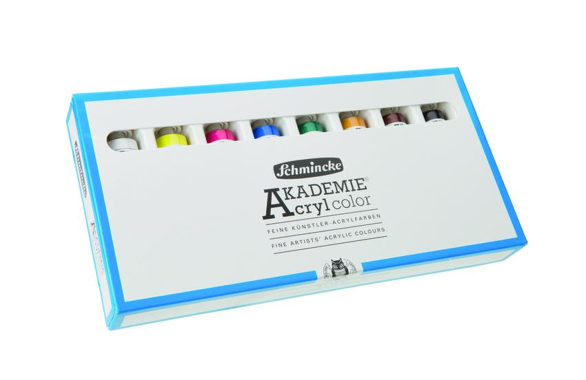 Sada akrylových barev Akademie 8x60ml