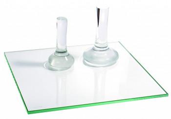 Třecí skleněná deska pro výrobu barev 40x40cm