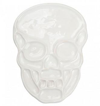 Porcelánová paleta pro akvarel – lebka