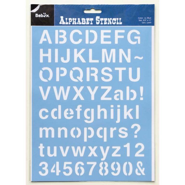 Šablona abeceda, typ 1