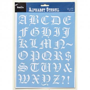 Šablona abeceda, typ 2