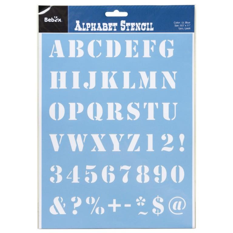 Šablona abeceda, typ 3