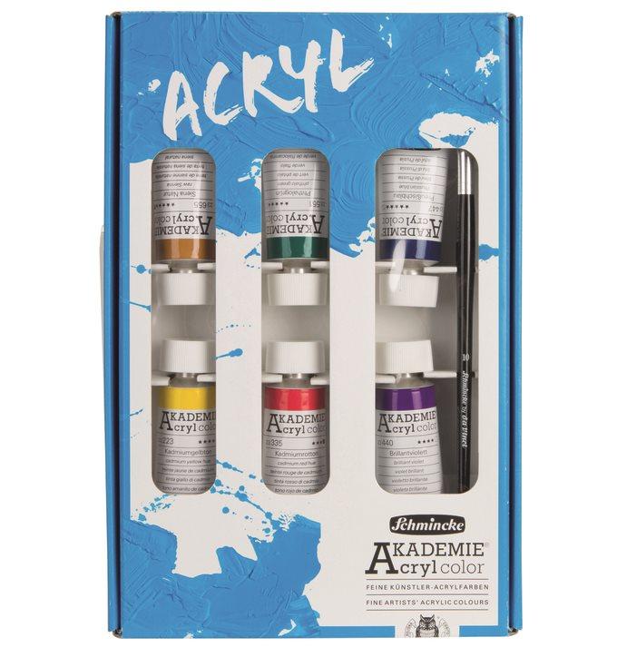 Limitovaná sada akrylových barev Akademie 6x60ml