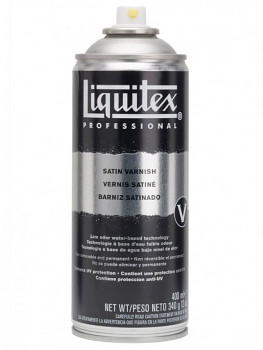 Saténový lak pro akryl Liquitex ve spreji 400ml