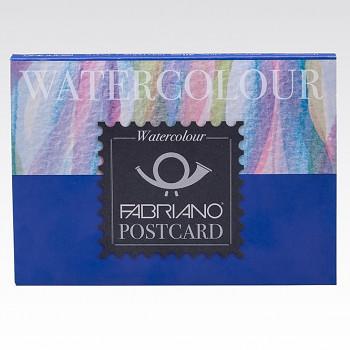 Pohlednicový blok Fabriano pro akvarel A6 20 listů