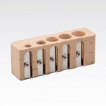 Dřevěné ořezávátko Fabriano s 5 otvory