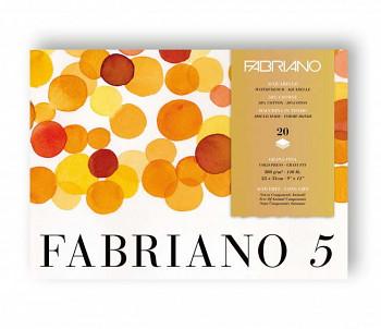 Blok pro akvarel Fabriano 5 23x31cm 300g Cold pressed