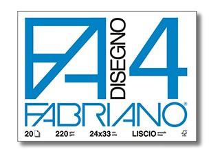 Blok Fabriano Disegno 4 220g, formát 24x33cm, hladký