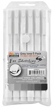 Sada fixů Marvy – šedé odstíny 6ks