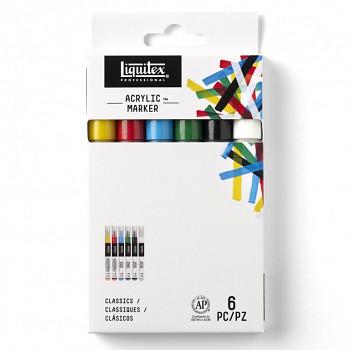 Sada akrylových markerů 6ks Liquitex