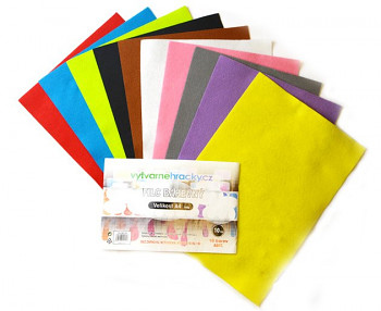 Filc A4 – sada 10 barev pastelové