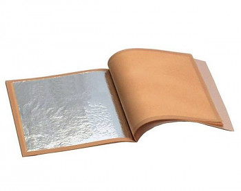 Zlatící plátky stříbrné 140x140mm 25ks