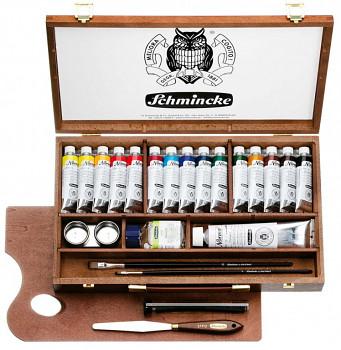 Sada olejových barev Schmincke Norma v kufříku 15x35ml + 120ml bílá