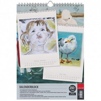 Prázdný kalendář k domalování A4