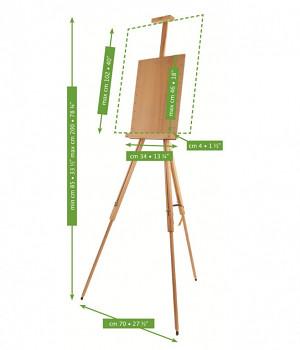 Plenérový stojan pro akvarel - M/26