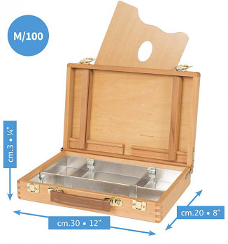 Luxusní dřevěný kufřík Mabef 20x30cm