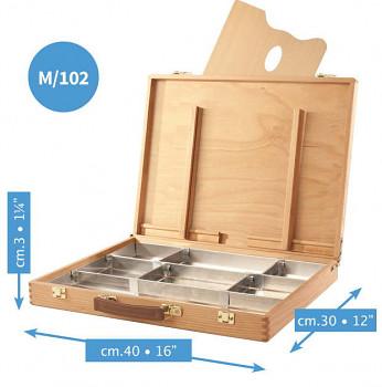 Luxusní dřevěný kufřík Mabef 30x40cm