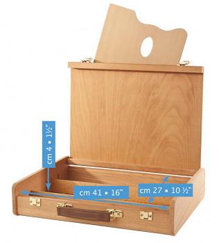 Dřevěný kufřík bukový Mabef 27x41cm