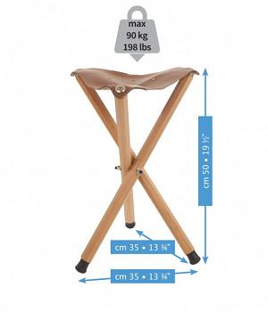 Skládací kožená židle Mabef - M/39