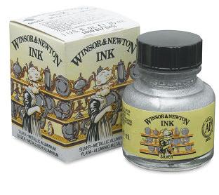 Tuš Winsor Newton 30ml – 617 stříbrná