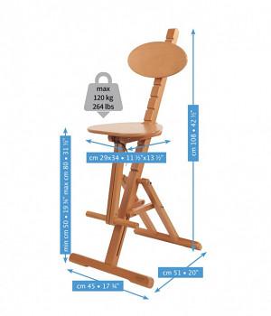 Dřevěná nastavitelná židle pro malbu Mabef M/44