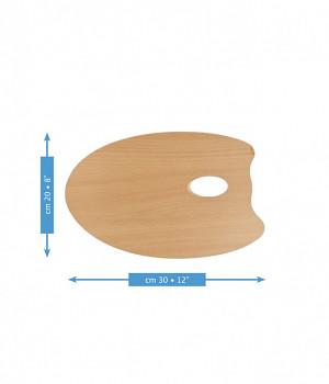 Dřevěná oválná paleta Mabef 20x30cm