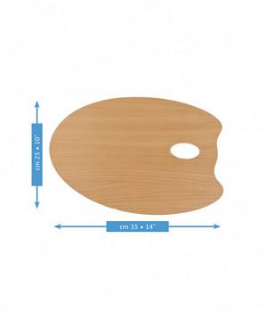 Dřevěná oválná paleta Mabef 25x35cm