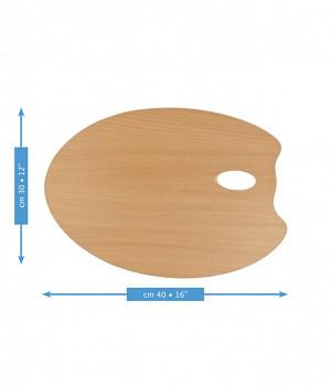Dřevěná oválná paleta Mabef 30x40cm