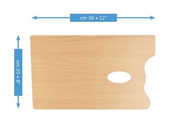 Dřevěná obdélníková paleta Mabef 20x30cm