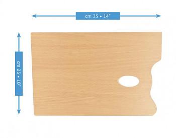 Dřevěná obdélníková paleta Mabef 25x35cm