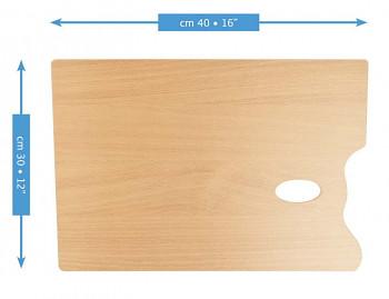 Dřevěná obdélníková paleta Mabef 30x40cm