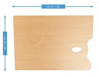 Dřevěná obdélníková paleta Mabef 35x45cm