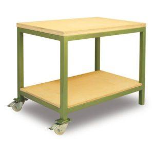 Masivní pohyblivý stůl z oceli Geko 75x100cm