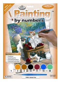 Malování podle čísel 22x30 cm - Kočičky u košíku