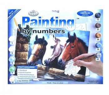 Malování podle čísel 40x30cm - Koňské hlavy