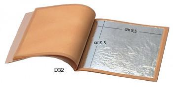 Zlatící plátky pravé stříbro 9,5x9,5cm 25ks