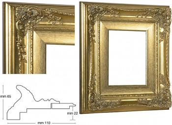 Blondelový rám barokní zlatý 18x24cm se zlatou filetou