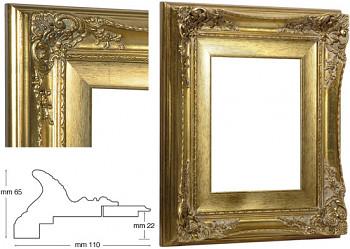 Blondelový rám barokní zlatý 24x30cm se zlatou filetou