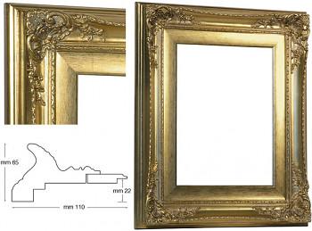 Blondelový rám barokní zlatý 30x40cm se zlatou filetou