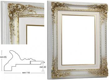 Blondelový rám barokní bílý 30x40cm