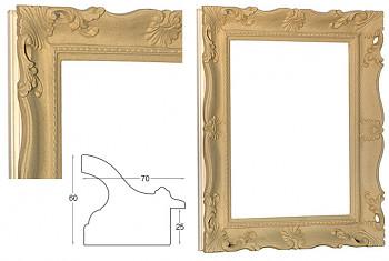"""Blondelový rám přírodní """"Francesina"""" 50x60cm"""