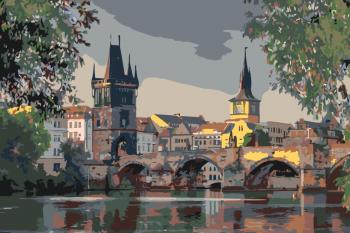 Malování podle čísel – Karlův most 40x60cm